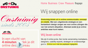 Website-Marker geeft de highlights aan