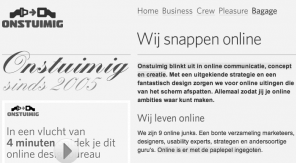 Website-Marker geeft de highlights aan - zwartwit