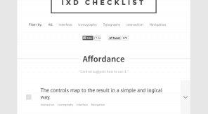 Interaction Design Checklist - zwartwit